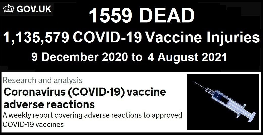 EUDRA Adverse Reaction Stats Though August 4th, 2021 UK-COVID-Vaccine-Adverse-Reactions-Report-8.13.21