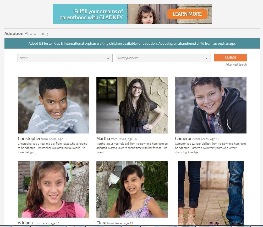 Websites Such As Adoption Advertise And Market Children Available For  Adoption
