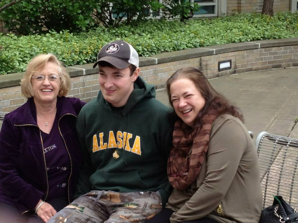 Bret Bohn with his mom in Seattle