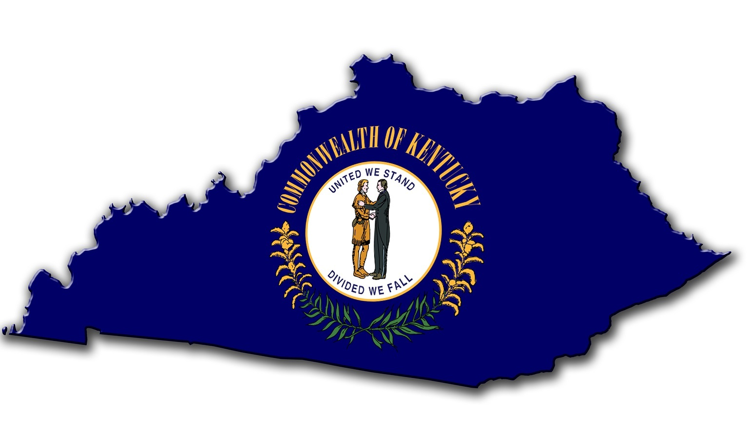 Illustration of Kentucky created with a high attention to detail.