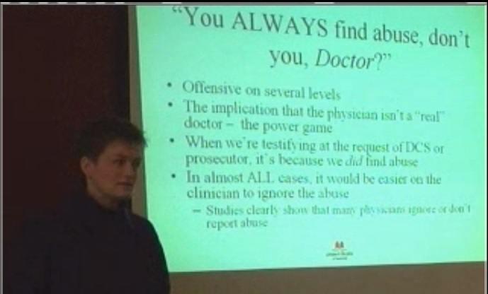 Dr. Deborah Lowen on abuse lecture