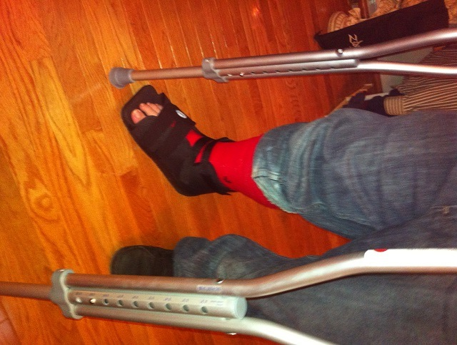 Justis Broken Ankle October 1 2012