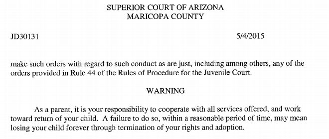 Services Blackmail screenshot Maricopa county AZ