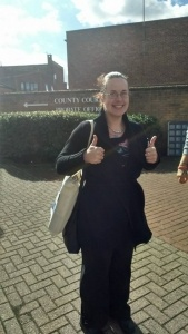 Stephanie outside of County Court