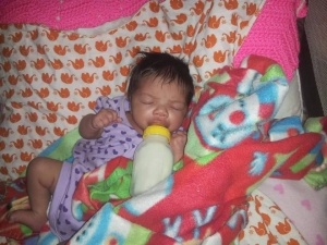 Alana Jo Avenger, sleeping peacefully, before SIDS took her life. Image supplied by family.