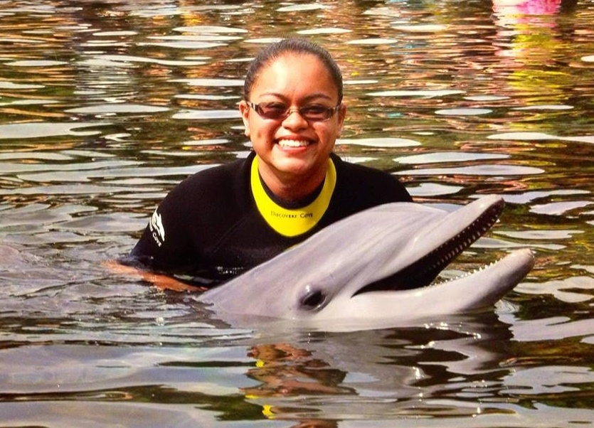 Leiani 2014 with dolphin