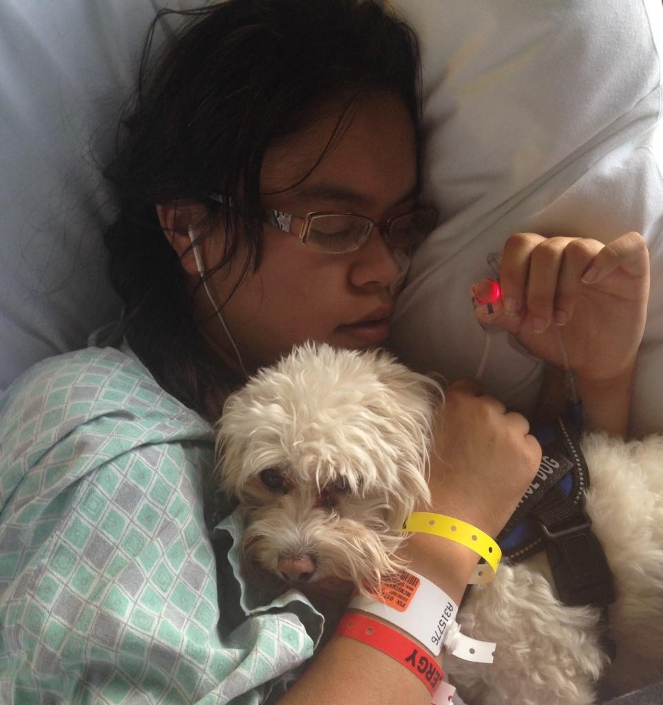 Leiani Oct 2015 asleep w dog