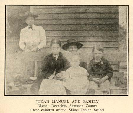JONAH-MANUEL-AND-FAMILY-croatan-Shiloh-Indian-School image