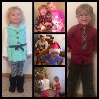 Ashton-Lexi collage. Christmas 2015 - without my babies!