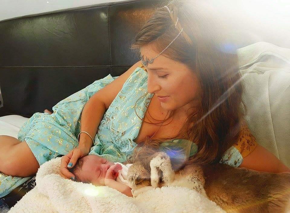 Erica and newborn Elijah