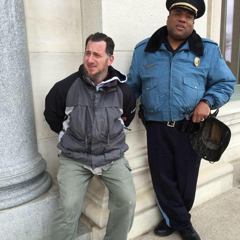 Schwab arrested