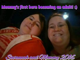 """Savannah & Mommy."" Image provided by Amanda."