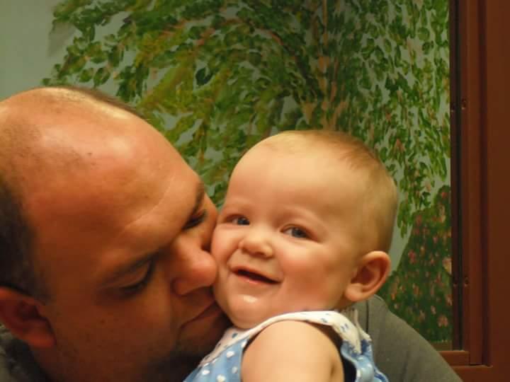 Walls dad and baby