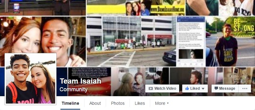 Team Isaiah FB page