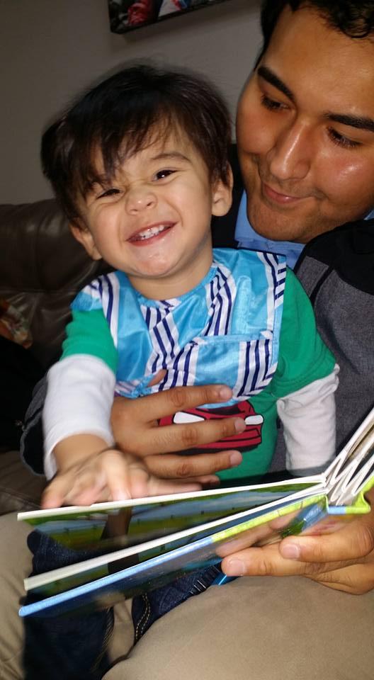 Battiato Cesar with daddy