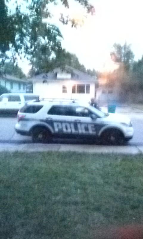 Colorado Police Outside Karen Riley's home