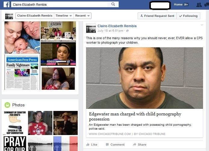 The CPS attorney asked everyone to look at the post. She said that it proves that we are, anti-CPS. 2