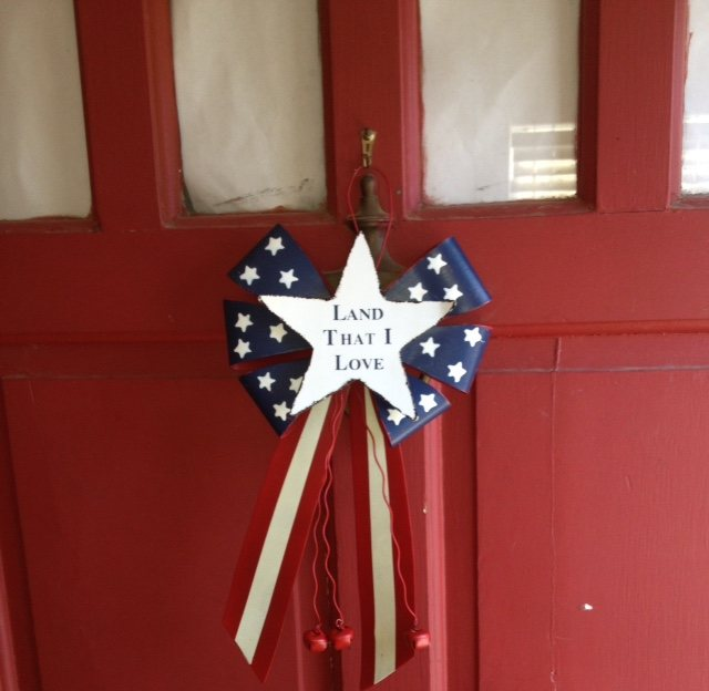 """My grandfather, great grandfather, cousins & even great relatives fought at the Alamo for the future of my kids! I will always love the country & state that my family fought for."" - Claire. Image of Claire's front door."