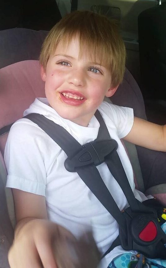 Headley Jack in car seat