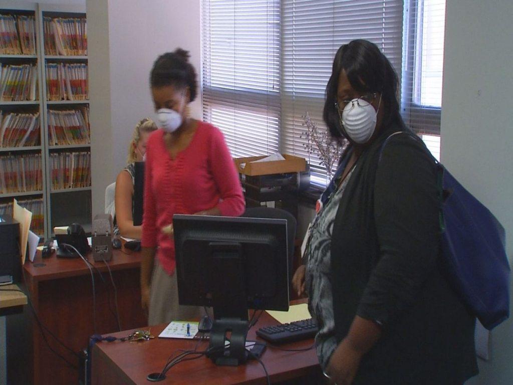 Headley mold employees wearing masks via wspa