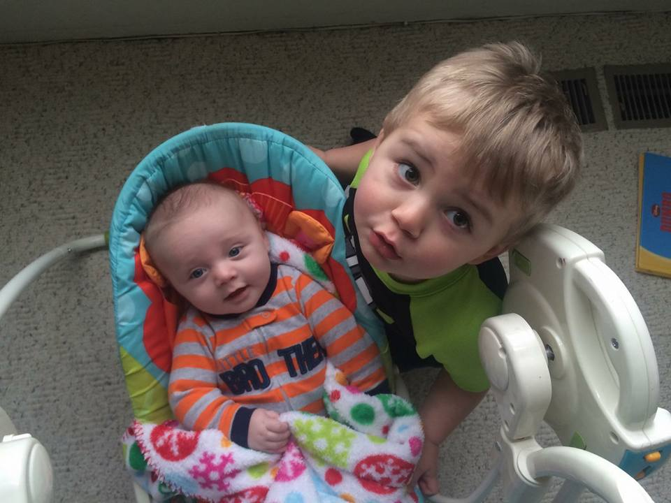 Timmons big brother taking care of little brother
