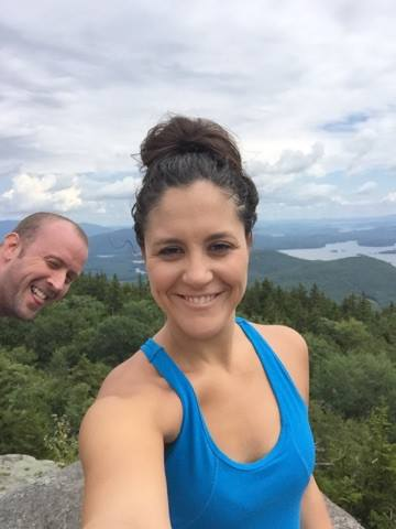 Holm couple at Mt Percival