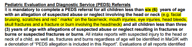 Indiana CPS protocol