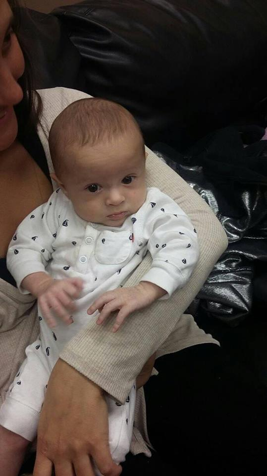 Holm baby at December 15 visit
