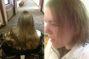 Chasity hair before and after