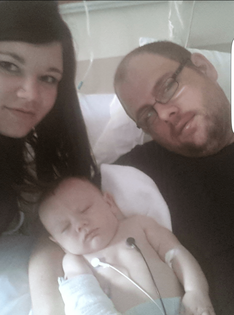 Ally baby in hospital