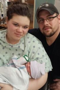 Ally with newborn