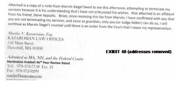 Seigel Kazarosian responds to Marvin trying to fire her via Boston Broadside