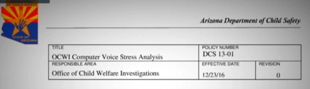 Arizona DCS voice analyzer policy