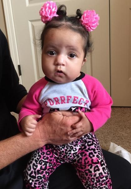 Glazier baby in pink