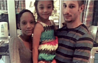 Steffen parents with Annalise