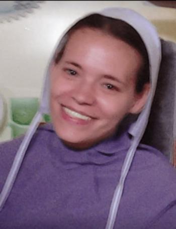 Byler Photo of Elizabeth in Amish clothing