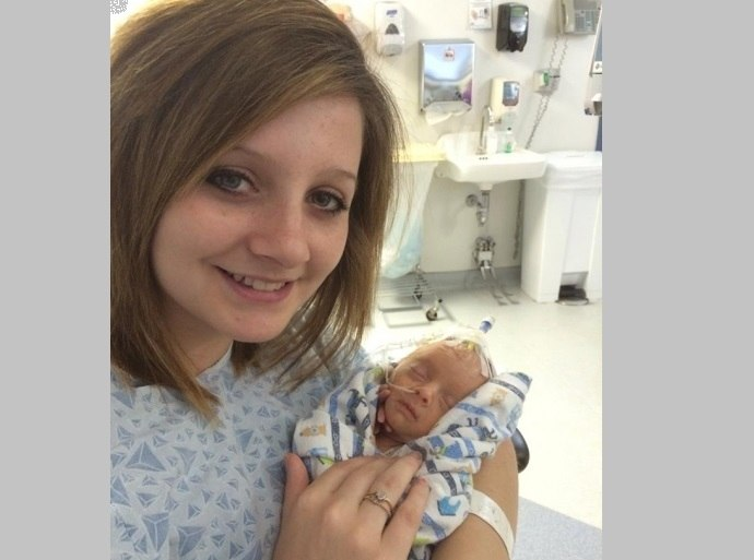 Keshia-with-Brayden-in-hospital-FB