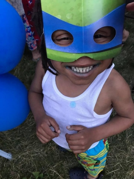Malik Ninja turtle birthday