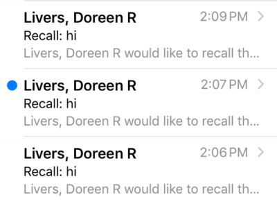 Odonnell email recalls 3 times