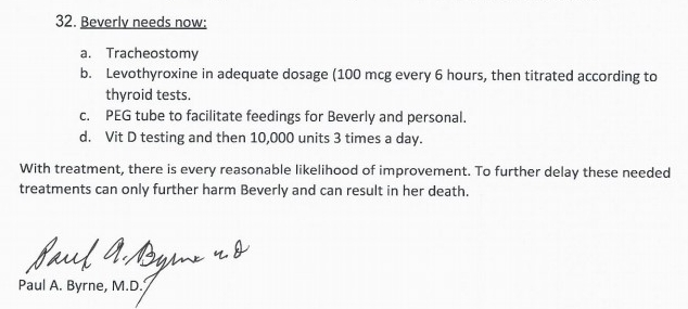 Belanger Dr Byrne recommendations