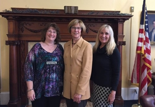 Terri with Kristi and Massachusetts auditor Suzanne Bump