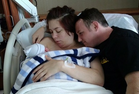 Chelsea new family right after birth