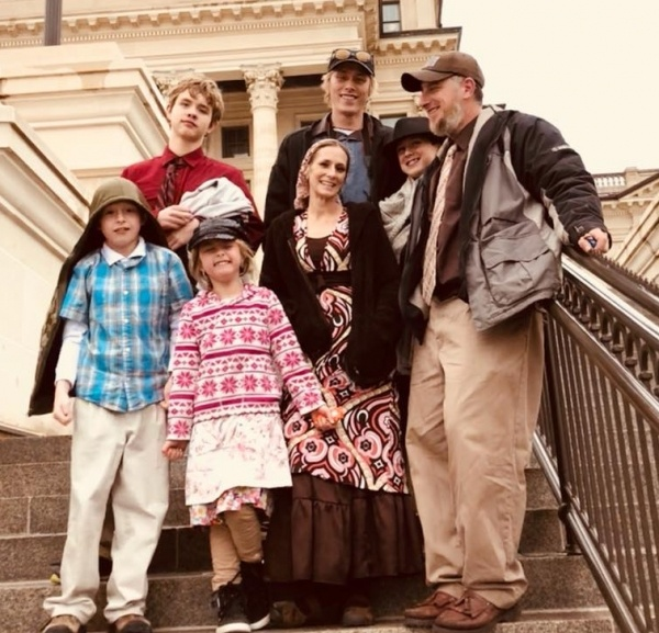 Schwab family together April 2 2018