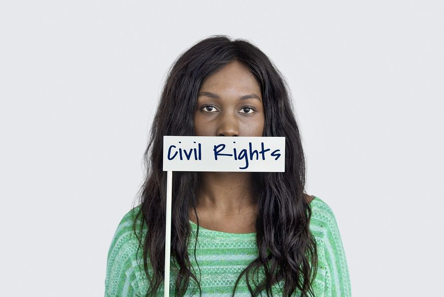 Civil Rights Word Young Mother image