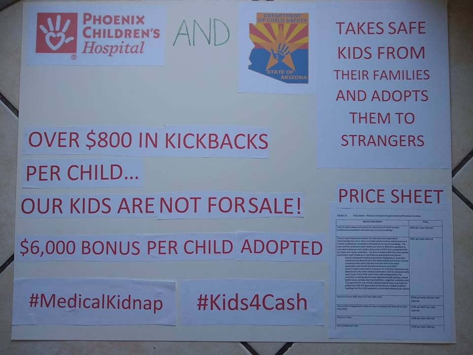 Phoenix Childrens kickbacks poster TB