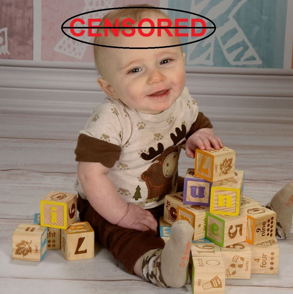 Baby Keaton not censored