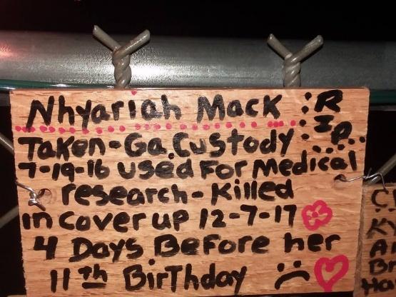 Nancy Barton fence Nhyariah Mack