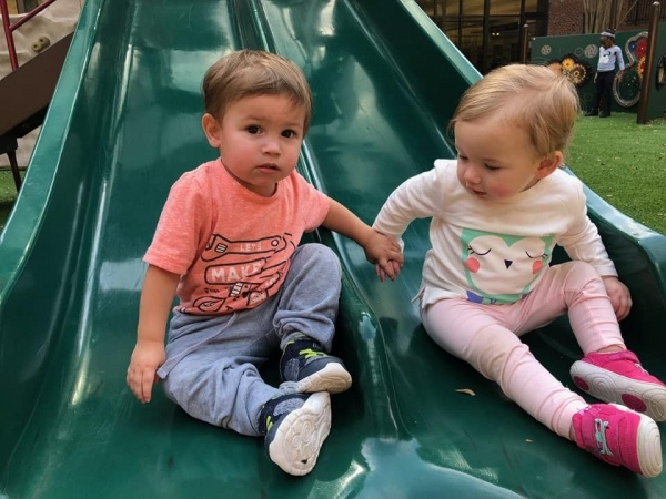 Ray children on slide Oct 16 2018