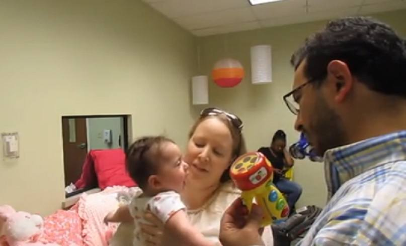 suzy and peter with baby sofie visitation monitor